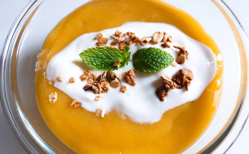 Pudding de Chía con mango un desayunosaludable.