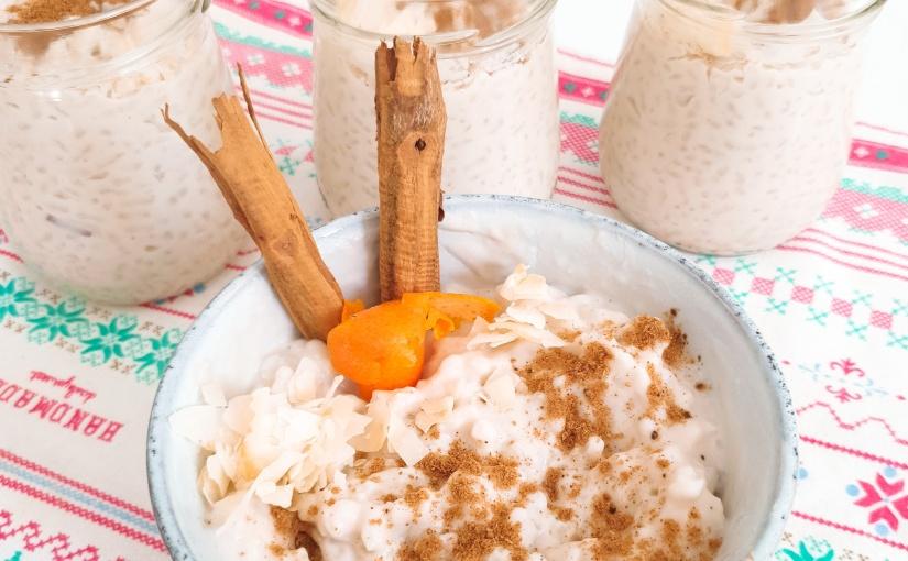 Arroz con leche de coco yanacardos