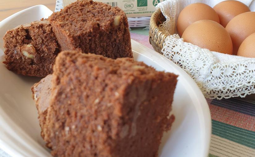 Brownie saludable con huevosecológicos