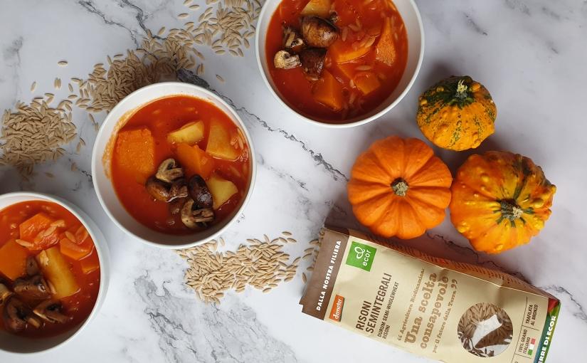 Prepárate para el otoño, sopa de verdura de raíz conrisoni