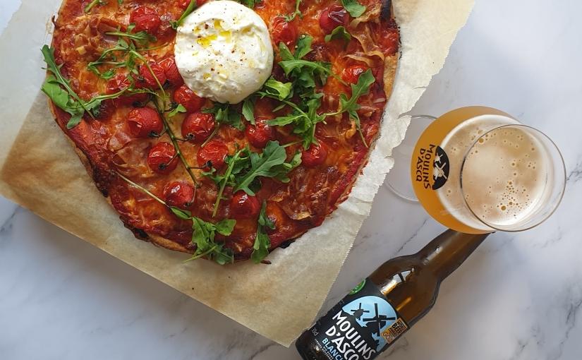 Masa de pizza con cervezaBIO
